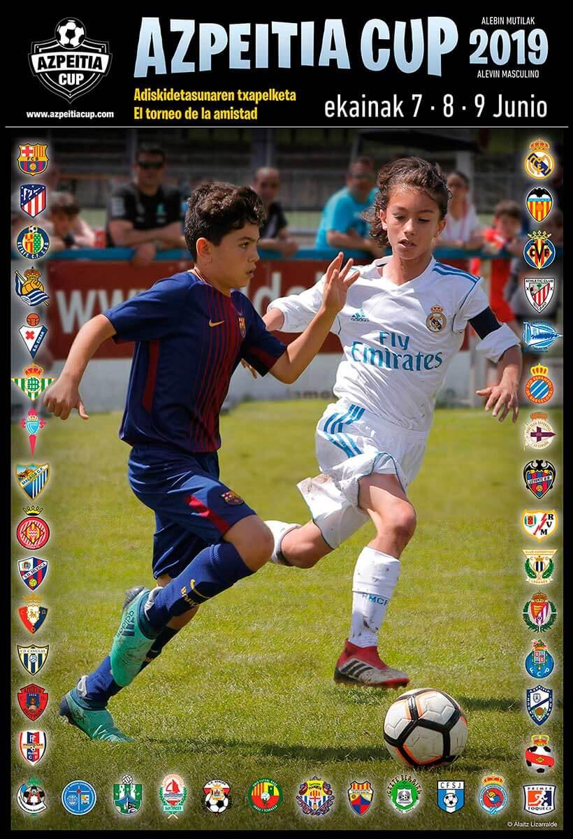 diseño cartel de futbol